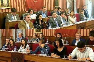 Concejales en el Pleno del Ayuntamiento de Burgos