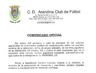El Juzgado declara secretas las actuaciones en el caso de los futbolistas detenidos de la Arandina