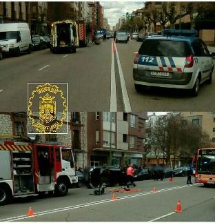 Un varón de 23 años resulta herido tras volcar su turismo en la calle Vitoria