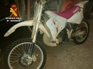 La Guardia Civil recupera una motocicleta sustraída en agosto pasado en Guipúzcoa