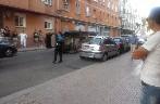 Vuelca un vehículo en la calle Benedictinas de San José