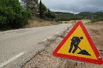 Corte en la carretera BU-550, por obras urgentes