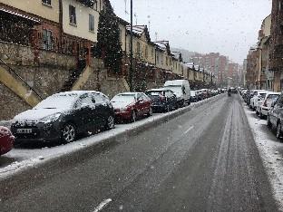 La nieve provoca varios accidentes en la capital burgalesa