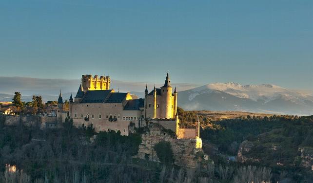 Vista general del Alcázar de Segovia