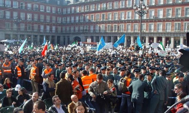 concentracion guardia civil madrid