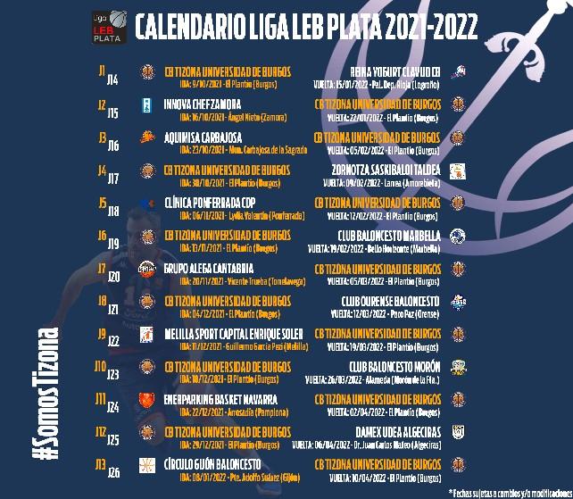 calendario-liga-plata-baloncesto